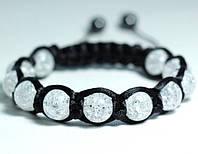 Женский браслет шамбала из хрусталя