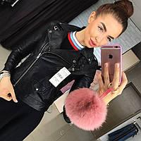 Женская стильная кожаная куртка-косуха (2 цвета)