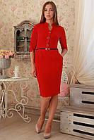 Платье женское передняя полочка украшена пуговицами