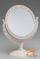 Настольное косметическое зеркало с увеличением 2х