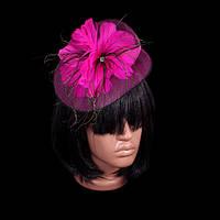 Украшение для волос «Цветок перьевой»