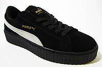 Мужские кроссовки Puma, замшевые, черные, Р. 41 42 44