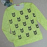 Реглан для девочки 5-8 лет, cotton ,Турция. Батники, кофточки, свитеры для девочек., фото 1
