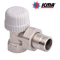 Icma Угловой термостатический вентиль с предварительной настройкой для железной трубы 1/2