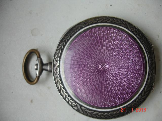 Корпус часы серебро гильшированная эмаль