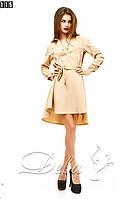 Платье ассиметричного кроя из габардина