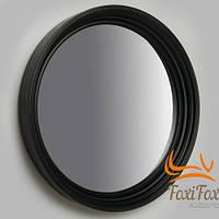 Настенное круглое зеркало черного цвета