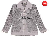 Комплект блуза и кардиган для девочки 3,6,9 лет код.204907