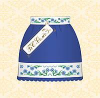 Детская юбка для вышивания бисером СПД-04-с-L Волошки (синя, 10-12 років)
