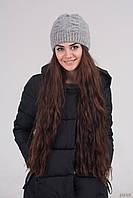 Красивая шапка крупной вязки