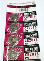 Батарейка CR2016 Maxell авто сигнализация часы x1