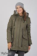 Куртка-парка для беременных Inira, утепленная, хаки-2