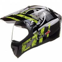 Кроссовый шлем LS2 MX433 Stripe Visor Yellow