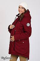 Куртка-парка для беременных Inira, утепленная, бордовая*