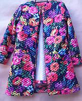 Кардиган для девочки подростка 134-146см, цветочный принт