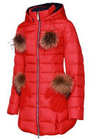 Куртка удлиненная женская зима snowimage g305 красный