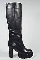 Сапоги зимние на каблуке платформе Magnori модная модель