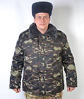 Теплый армейский камуфлированный бушлат Украинский дуб - 92-28