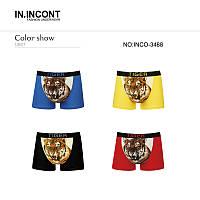 Цветные мужские трусы-шорты (боксеры) с рисунком тирга