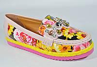 Яркие туфли мокасины женские Verendina качество супер