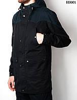 Осенняя куртка парка мужская молодежная Forest Navy Black Арт. H0001