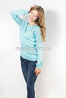 Кофта пуловер женская голубая Роксолана р.46