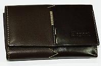 Классический женский кошелек из кожи на кнопке. Удобный, недорогой, качественный женский портмоне. Код: КБН18
