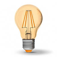 LED лампа Filament светодиодная VIDEX A60FA 7W E27 2200K 220V бронза