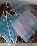 Одежки для свадебного шампанского (бирюза)