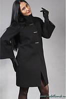 Кашемировое пальто с воротником-стойка