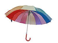 """Зонт-трость женская прозрачная Fine Rain 602M """"Радуга"""" полуавтомат"""