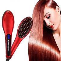 Расческа-выпрямитель Fast Hair Straightener Красная! Есть опт!!