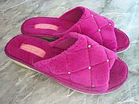 Женские махровые тапочки Белста с открытым носком