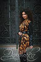 """Красивое леопардовое пальто """"Costa Rica"""" с запахом"""