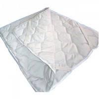 Непромокаемый двухсторонний наматрасник на резинке 60 х 120 см (бязь+хлопок), белый, Руно
