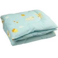 Одеяло силиконовое антиаллергенное 105 х 140 см, голубое, Руно