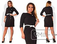 Строгое приталенное платье в больших размерах (разные расцветки) t-1515707