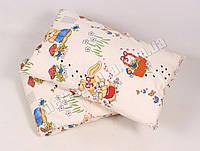 Детское одеяло с подушкой хлопок/шерсть 003