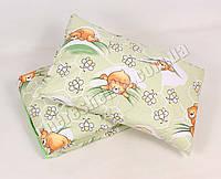 Детское одеяло с подушкой хлопок/шерсть 005