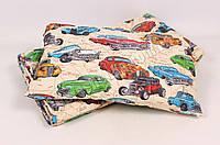 Детское одеяло с подушкой хлопок/шерсть 006