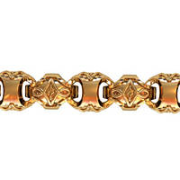 Шикарный массивный мужской золотой браслет 585* пробы
