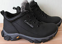 Columbia! Детские подростковые зимние тёплые ботинки сапоги кожа 33-39