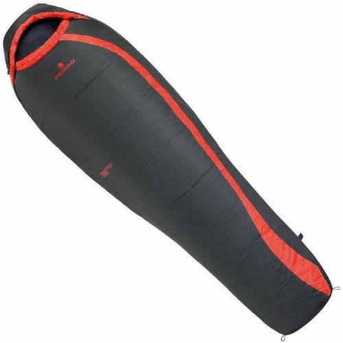 Спальный мешок Ferrino Nightec 300/+0°C Dark Grey (Right) 922925, темно-серый / красный