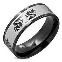 Мужское кольцо из стали с драконами, в наличии  18.0, 19.0, 20.0, 20.7