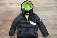 Демисезонная куртка  на  синтепоне для мальчиков 4-6лет  Цвет:синий, темно-синий, черный