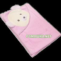 Детское махровое уголок-полотенце для новорожденных после купания, 85х85 см, 100% хлопок 3202 Розовый