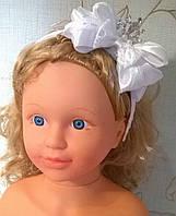 """Обруч на голову для девочки """"Принцесса"""" цвет белый размер 50-58см"""