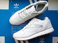Кроссовки мужские низкие белые Reebook Classic White (реплика)