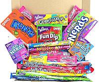 Набор сладостей подарочный из США: конфетки Jelly Belly, Wonka Nerds, Toxic, AirHeads, жвачки и многое другое