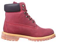 Женские ботинки Timberland (Тимберленд) бордовые